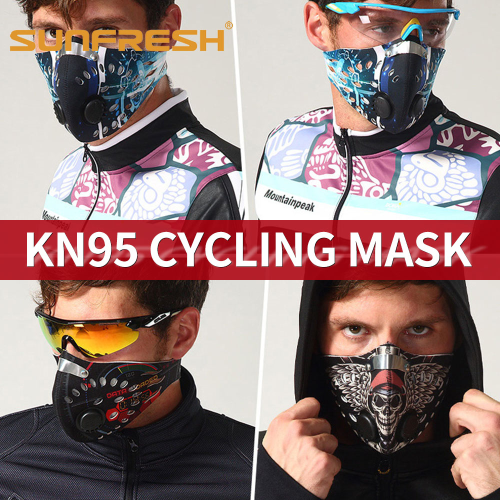 Fashion Men/Women Activated Carbon Dust-proof Face Mask Anti-Pollution Bicycle Bike Outdoor Training anti dust face mask shield
