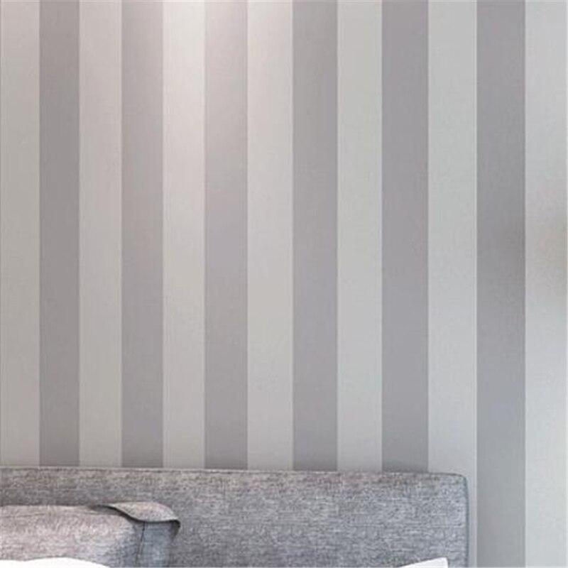 Beibehang papel pintado liso decoración gris claro rayas verticales ...