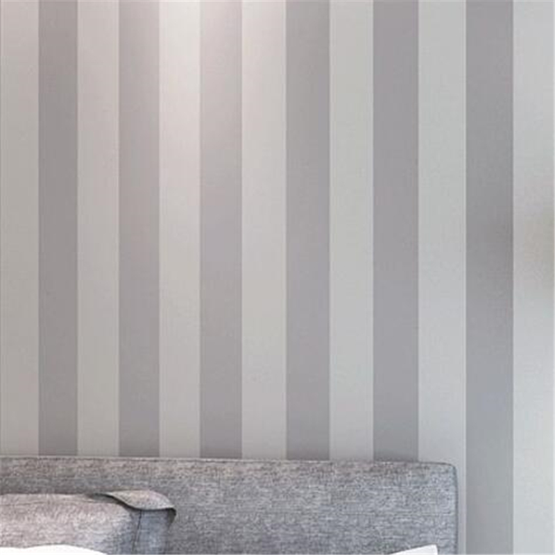 Beibehang Plain Wallpaper Decoration Light Gray Vertical Striped Modern Minimalist Lines Papel De Parede Non Woven In Wallpapers From Home