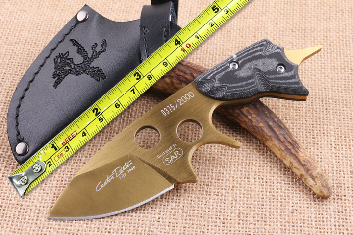 SAR font b Tactical b font Fixed Blade font b Knife b font D2 Steel Camping