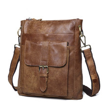 Maxdo Vintage Real Skin Genuine Leather Small Men Messenger Bags #M8691