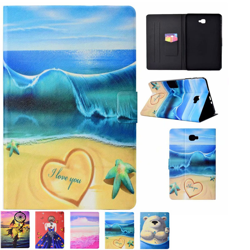 for samsung tab a6 10 1 inch cartoon pu leather case for. Black Bedroom Furniture Sets. Home Design Ideas