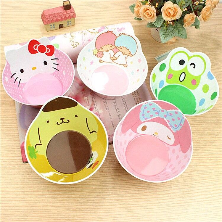 Lovely Child cartoon bowl KITTY/Mickey/Doraemon food grade melamine rice soup bowl tableware multicolour dessert snack bowl