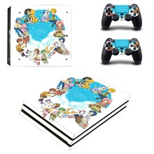 Digimon Adventure PS4 Pro Skin Sticker For Sony PlayStation 4 Console and Controllers PS4 Pro Skin Sticker Decal Vinyl
