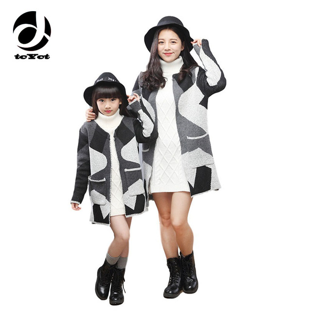 b23df90be 2016 baby mom cardigan sweater coat family matching clothes casual ...