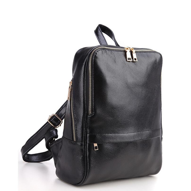 Genuine Leather Backpack Women Backpacks Soft Leather Female School Bags For Girls Hot Fashion Women Backpack Taravel Bag #5