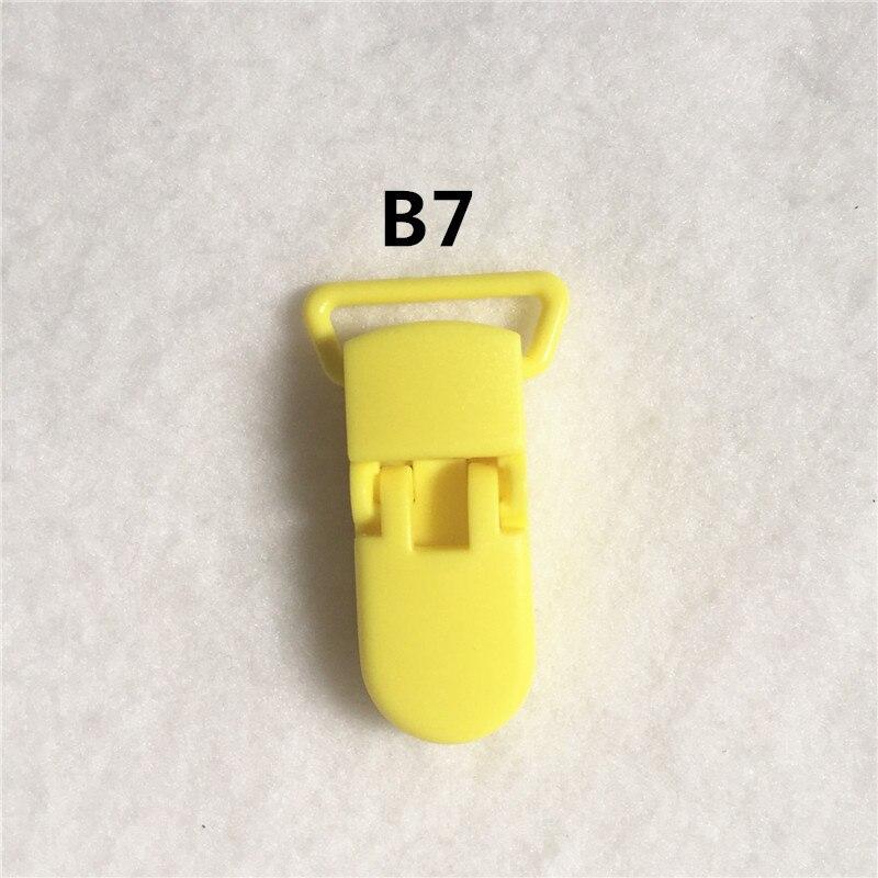 20 цветов) DHL 200 шт. 20 мм КАМ Пластик маленьких Соски NUK MAM пустышка Chain Зажимы чулок Зажимы - Цвет: B7