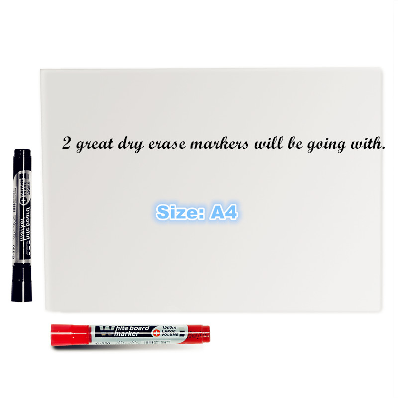 A4 Size New Creative Magnetic Whiteboard , Soft Whiteboard As Fridge Magnet / Office Marker Blackboard / Sticker