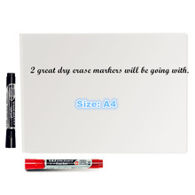 A4 size New creative magnetic whiteboard , soft as fridge magnet / office marker blackboard sticker