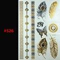 Бесплатный Шопинг DIY металлическое золото татуировки наклейки блеск Вдохновленный Золотой Серебряный Блестящий Металлик Временные Татуировки Флэш Татуировки