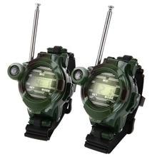 Детские образовательные игрушки 2 шт. игрушечные рации часы рация 7 в 1 Детские часы радио наружный домофон игрушка на открытом воздухе
