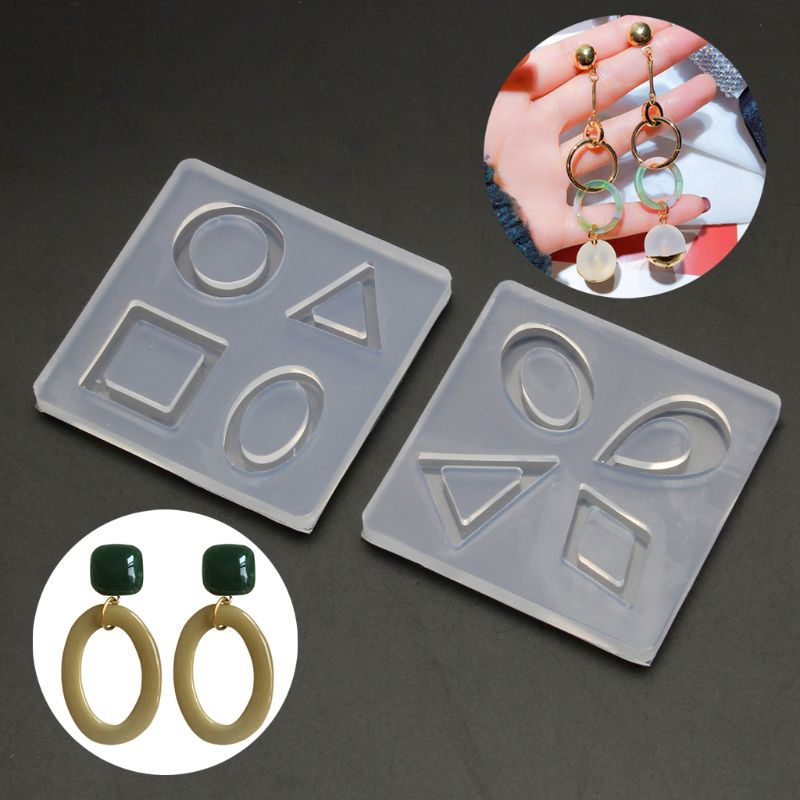 Silicone Acrylic Earring Necklace Pendant Mold Resin Casting Mold Jewelry Making