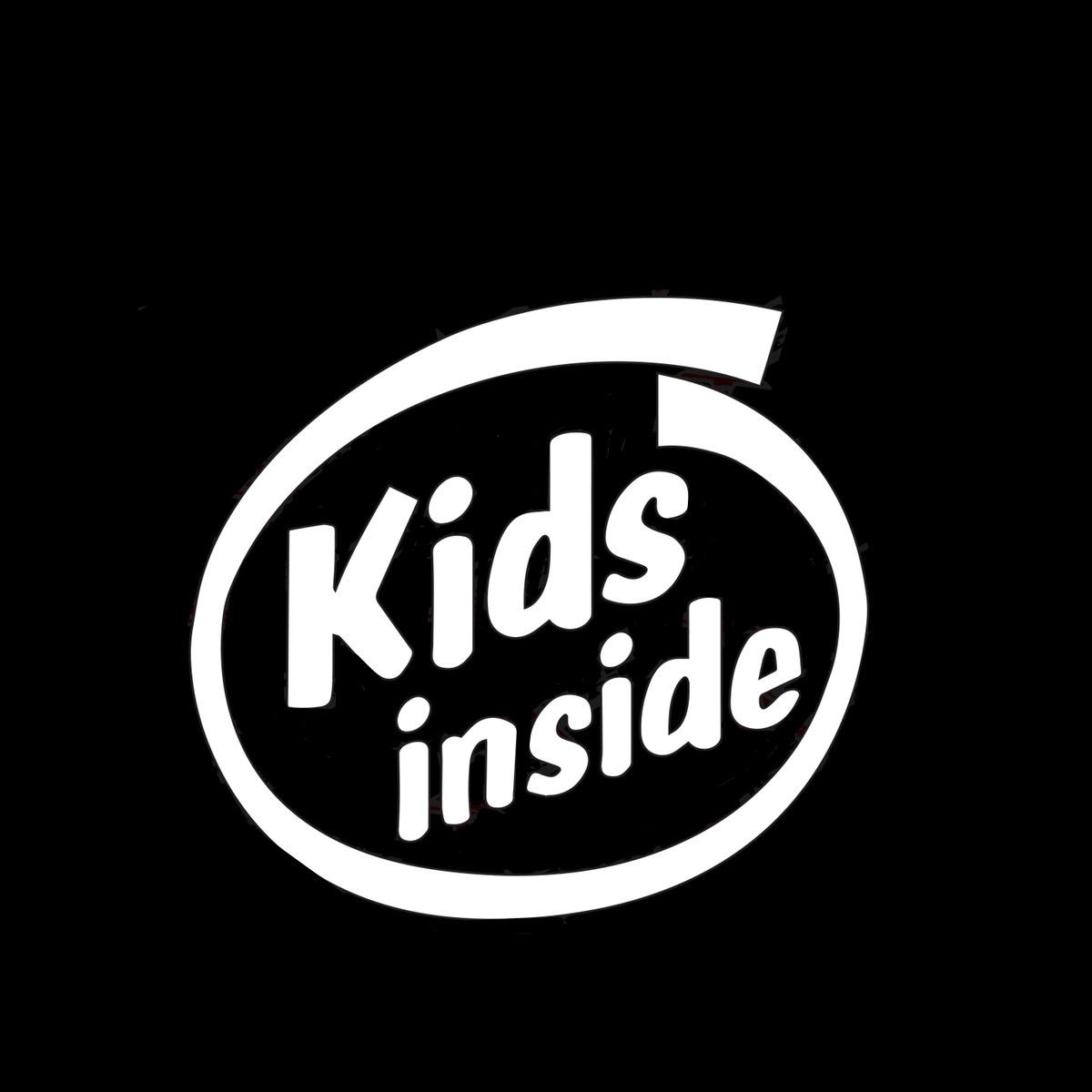Words KIDS INSIDE Car Sticker Bumper Window Laptop Wall Home Glass Mirror Door Room Glass Vinyl Decal Decor Gift 11.5cmX12.7cm
