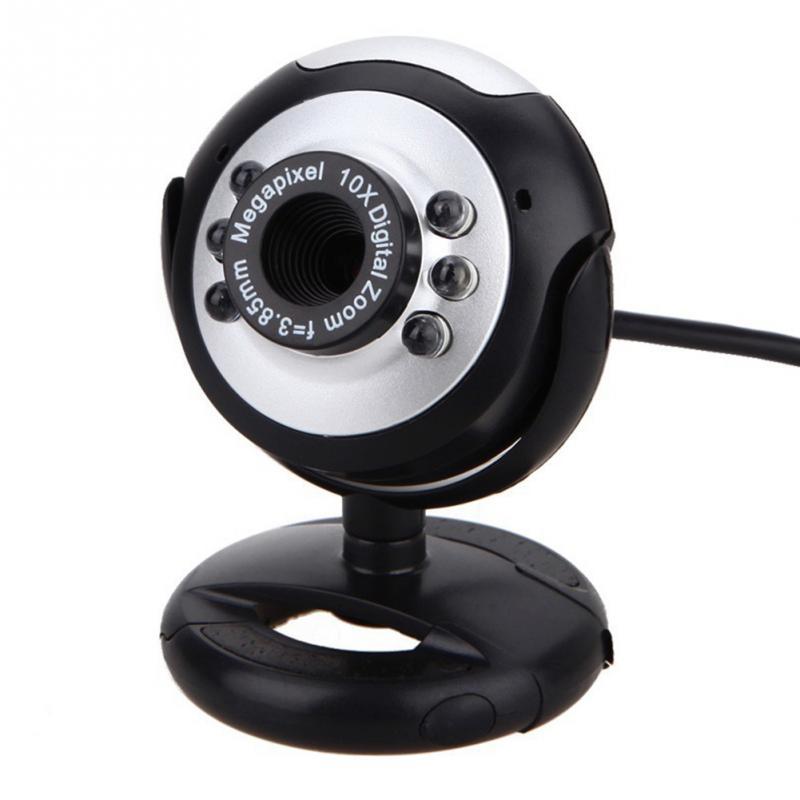 2018 USB 2.0 мегапиксельная Камера веб-Камера Ночное видение для рабочего стола или ПК или ноутбука Skype