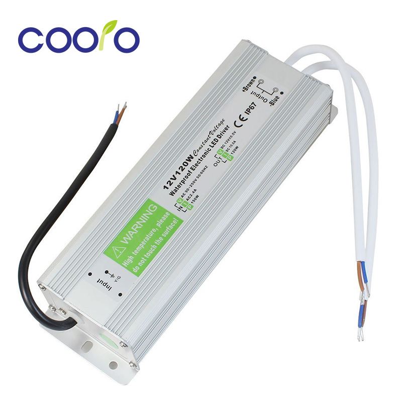 DC 12V 120W Waterproof ip67 Electronic LED Driver outdoor use power supply led strip transformer power adapter,Free shipping led driver transformer power supply adapter ac110 260v to dc12v 24v 10w 100w waterproof electronic outdoor ip67 led strip lamp