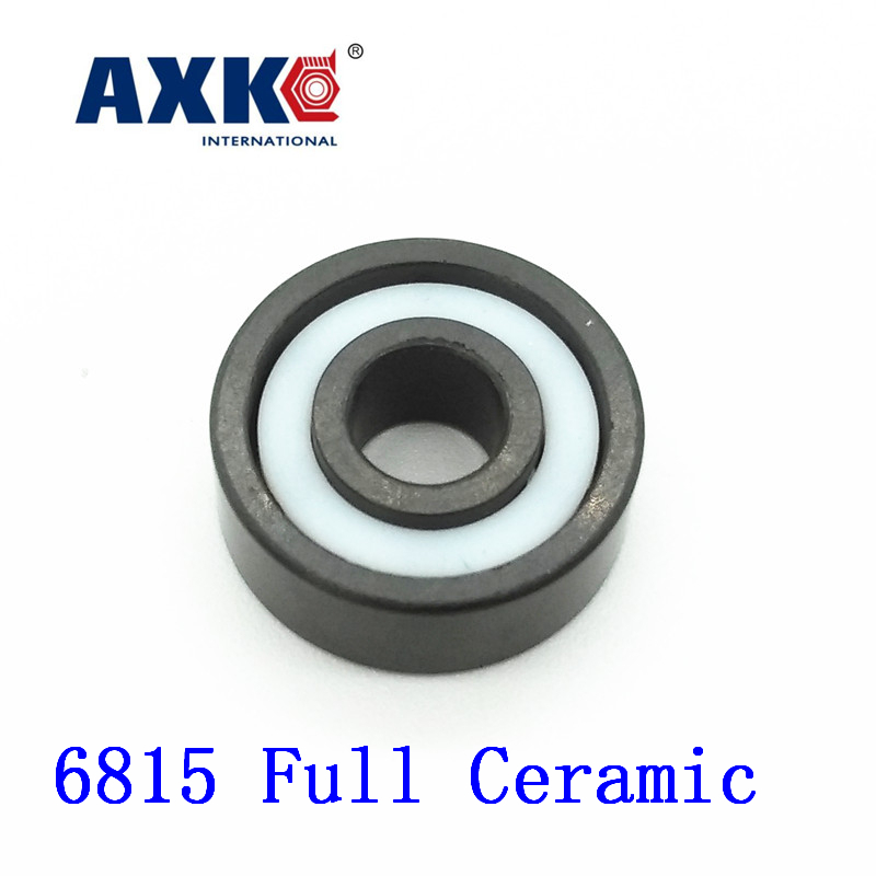 Axk 6815 Full Ceramic Bearing ( 1 Pc ) 75*95*10 Mm Si3n4 Material 6815ce All Silicon Nitride Ceramic 6815 Ball Bearings 60mm bearings 6212 full ceramic si3n4 60mmx110mmx22mm full si3n4 ceramic ball bearing