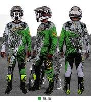 New Design Motocross Race Suit Men M XXL 3XL Blue Green Ktm Dirt Bike Off Road