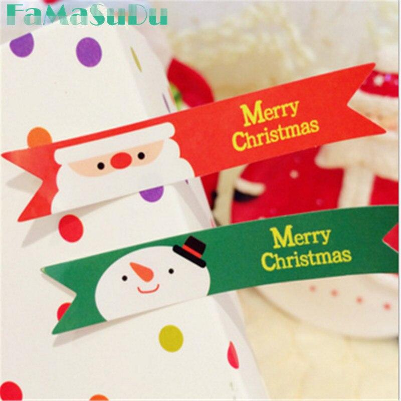 20 fogli di Buon natale Babbo natale Pupazzo di Neve Seal Sticker festa di  natale pacchetto cottura etichette di carta etichette regalo di natale 200  pz 7782bf041a4