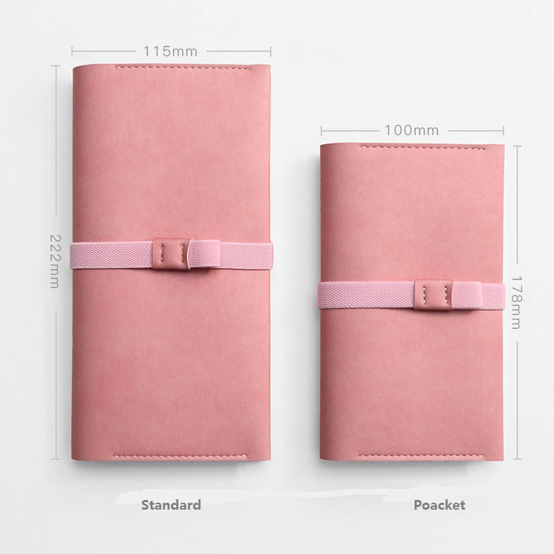 Colored Leather Traveler's Notebook Diary Handmade Sketchbook Journal Refill Paper Gift Personalized with Accessories Escolar