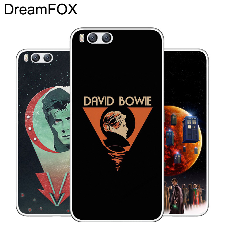 Dreamfox M450 David Bowie Doctor Who Soft Tpu Silicone Case Cover For Xiaomi Mi Note 2 3 4 5 6 8 Se M5 4c 4s 5c 5s 5x 6x A1 Plus Bright In Colour Fitted Cases