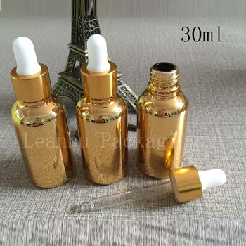 Imported oil bottles wholesale 30ml dropper bottle golden small medicine bottle wholesale deployment points bottling, 30cc