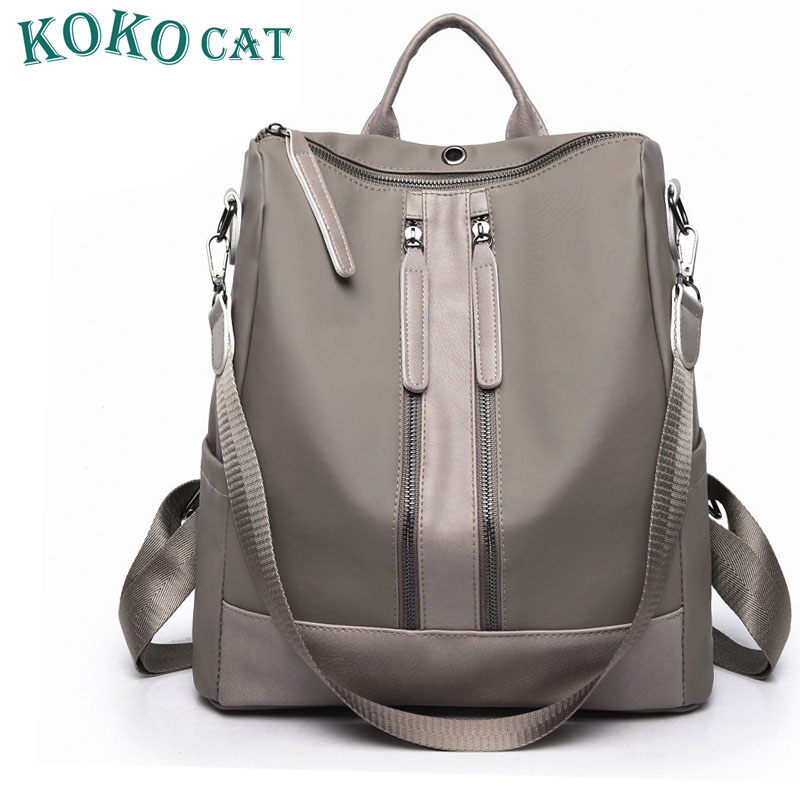 2019 New Arrival Summer Women Backpacks PU College Bags For Teenage Girls Ladies' Travel Backpack Black Gray School Bags