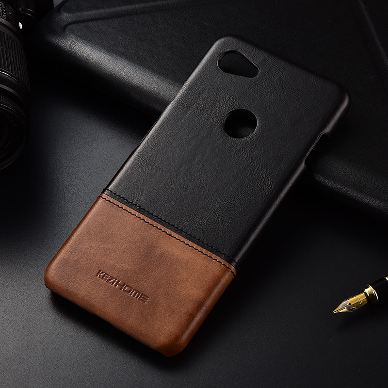Case For Google Pixel 3A XL Luxury Hit Color Genuine Leather Hard Back Cover Capa For Google Pixel3a /3A XL Phone Cases