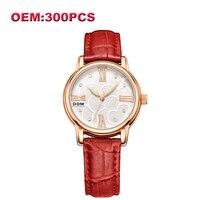 DOM Индивидуальные Ваш наручные часы собственной марки уникальные кожаные повседневные кварцевые для женщин часы Высокое качество водонепр