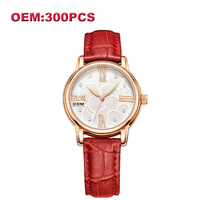DOM Customized Your Own Brand Watch Unique Leather Causal Quartz Women Watches High Quality Waterproof Watch for Women