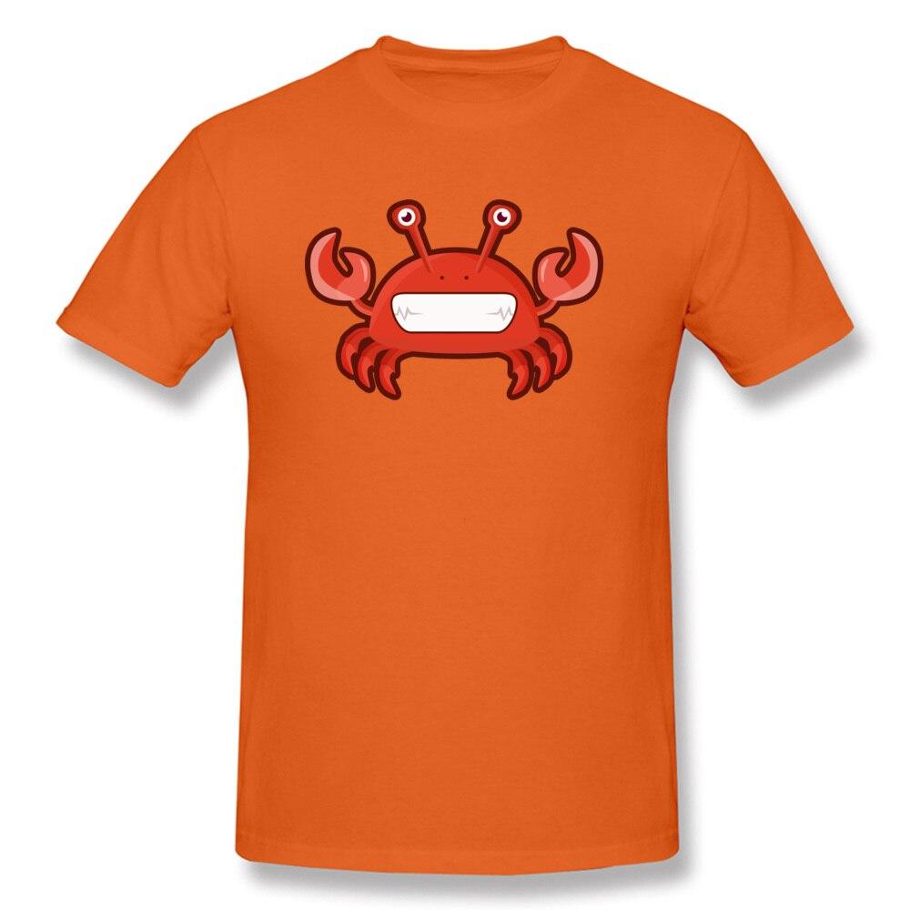 T Shirt Kawaii Crab Tops Shirt Summer Autumn 2018 Street Short Sleeve Pure Cotton Crewneck Men Tshirts Street Drop Shipping Kawaii Crab orange