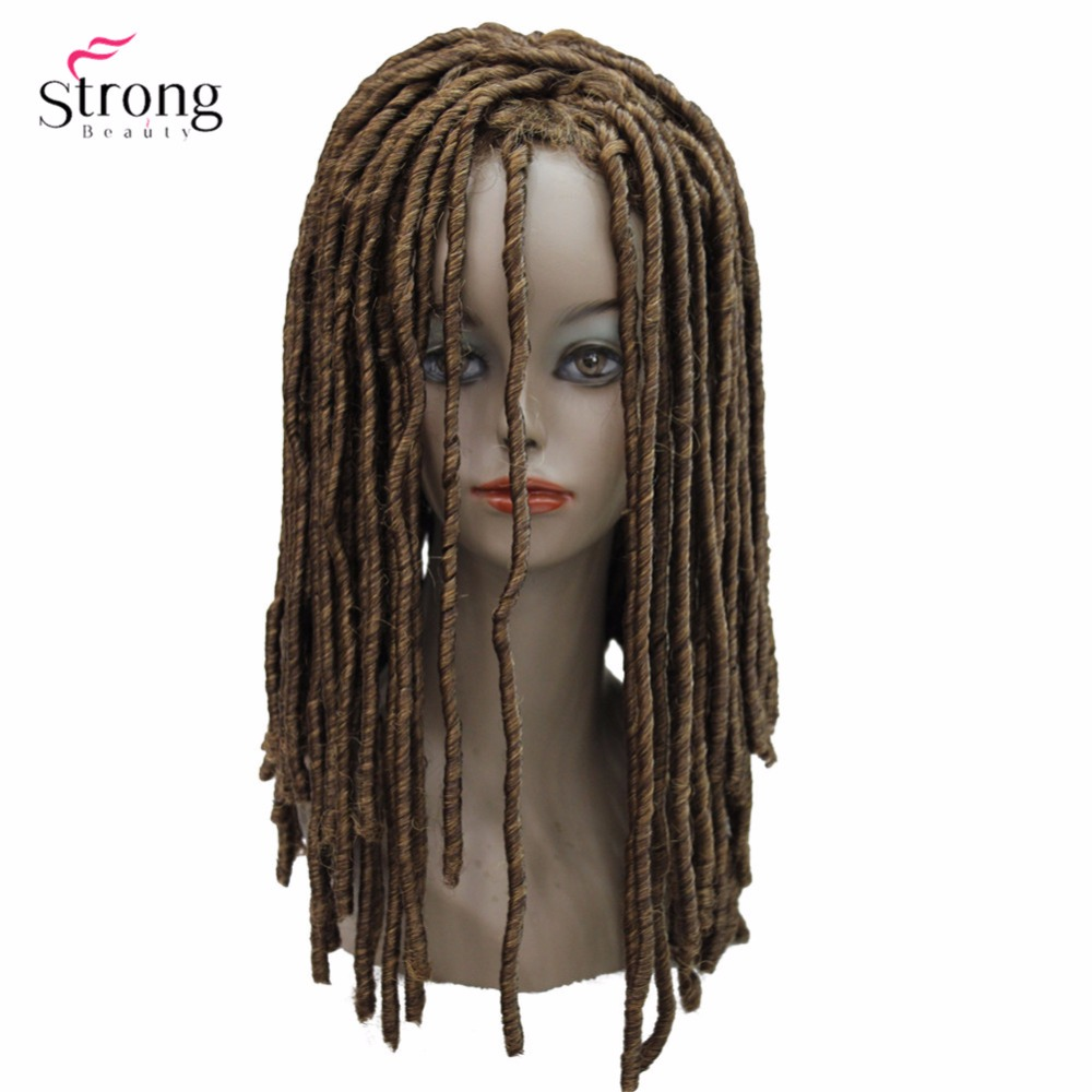 StrongBeauty Twist Hair Crotchet Braids Wigs Synthetic Dreadlocks Braids Hair Wig