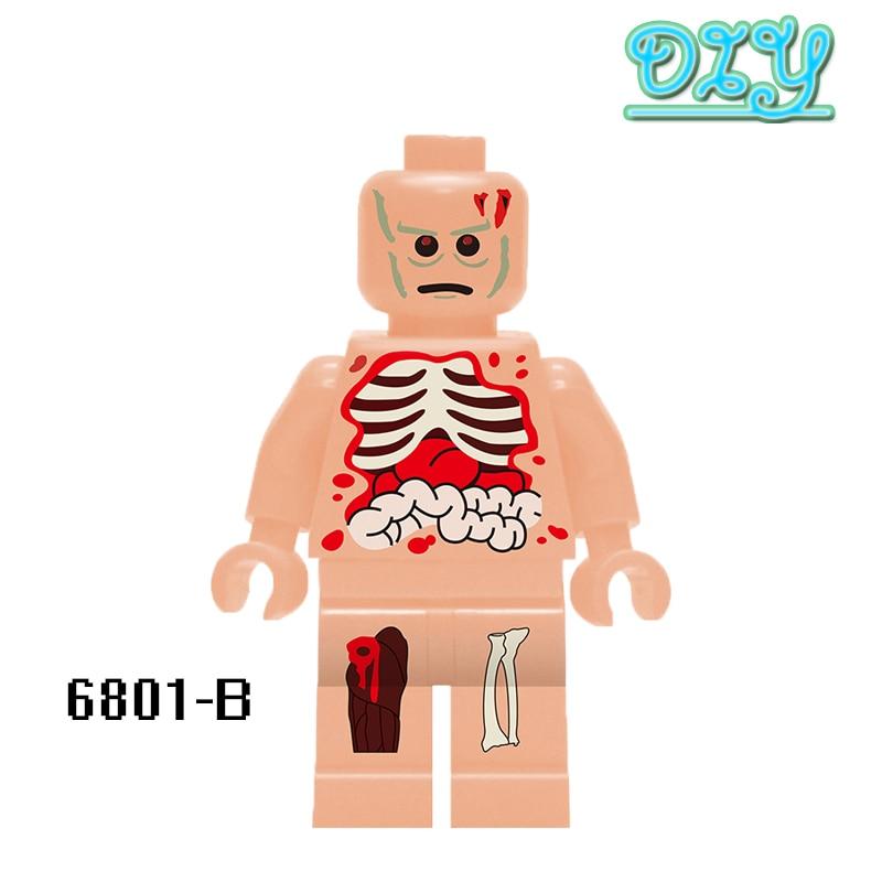 Kids Toys Hobbies Figures Educational Blocks Custom Printed Anatomy Dissection Super Hero Deadpool Model Building Bricks