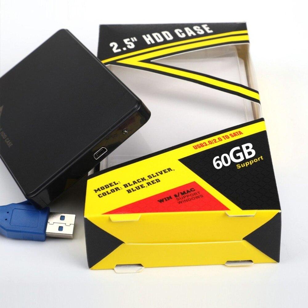 Boîtier Portable 2.5 pouces SATA HDD taille USB3.0 support pour disque dur externe à semi-conducteurs mécanique neutre