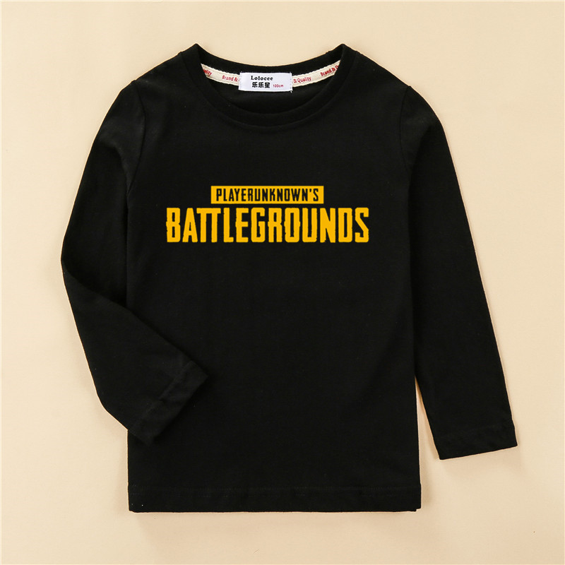 47d374d8 2018 Teen boy's PLAYERUNKNOWNS BATTLEGROUNDS PUBG t shirt kids clothes  cotton casual shirt boy long sleeve tops child new tees
