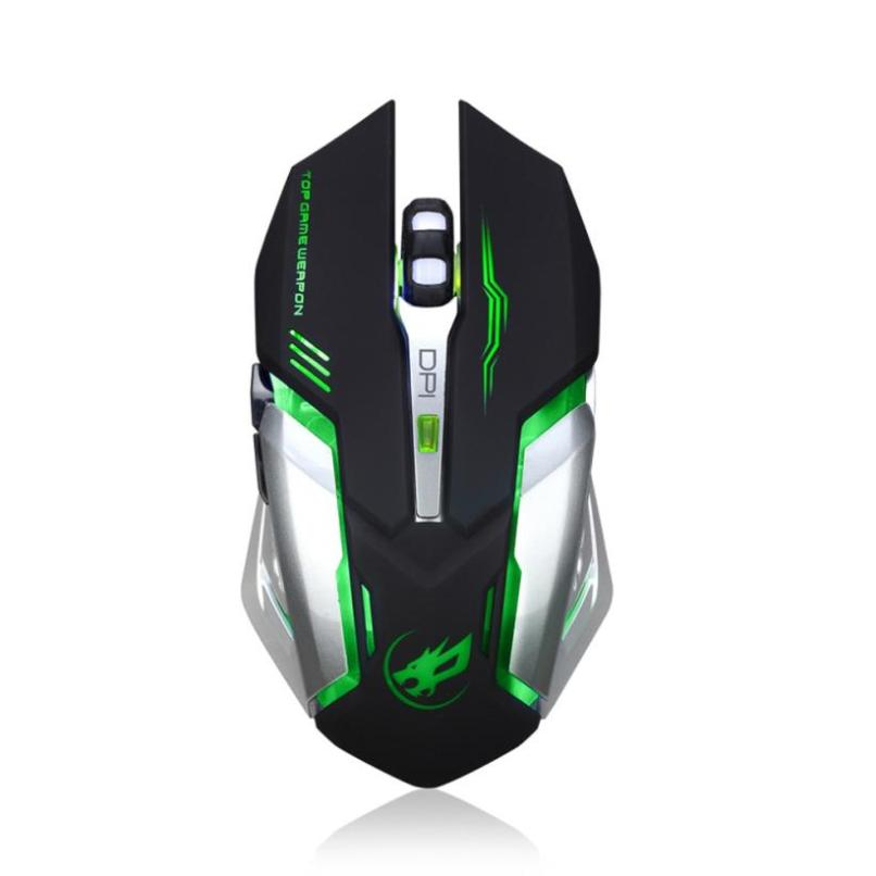 Image 2 - Rechargeable T1 Wireless Silent LED Backlit USB Optical Ergonomic  Gaming Mouse LOL Gaming Mouse Surfing The Mouse # ZC-in Mice from  Computer