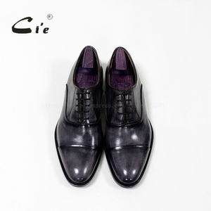 Image 3 - cie round captoe calf leather men shoe Handmade 100%Genuine calf leather outsole breathable blake lacing patina grey  OX 05 02