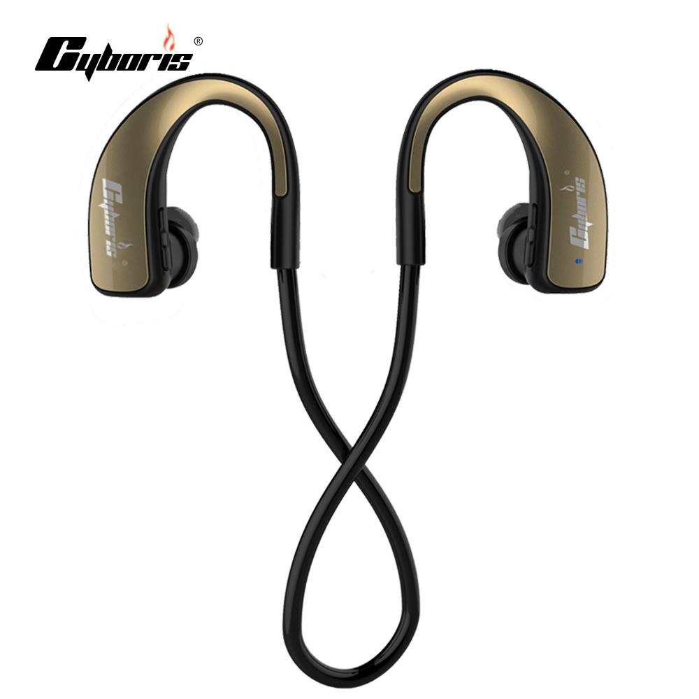 CYBORIS Bluetooth Earphone Wireless Sports Headphones In ear Headset Music Stereo Earbuds Handsfree with Mic for iphone 7 Xiaomi q2 mini bluetooth headset stereo wireless earphone headphones music car driver headset stealth earbuds mic with charging socket