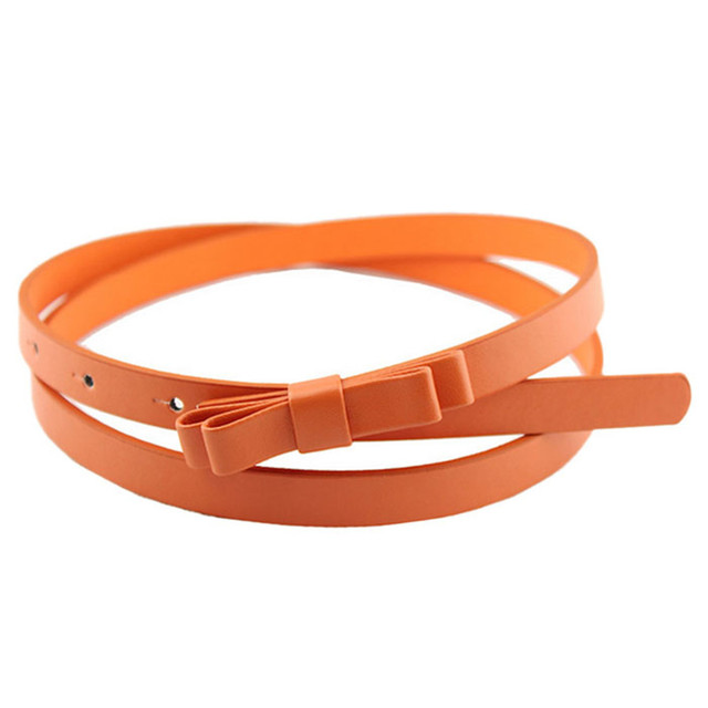 CHAMSGEND WillBeen New Fashion Dow Candy Thin Women Pu Leather Casual Belt Cummerbund For Girl Fashion Feb27