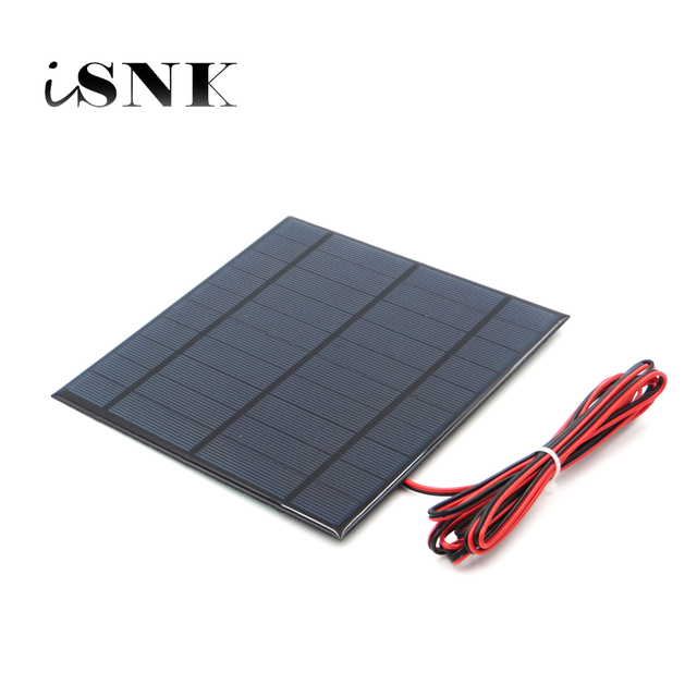 5V Solar Panel with 30/100/200cm wire Mini Solar System DIY For Battery Cell Phone Charger 0.7W 0.8W 1W 1.2W 2.5W 4.2W Solar toy
