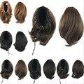 25 см Клип В Коготь На Хвостики Шиньоны Наращивание Волос Коса Небольшой Шнурок Хвост Синтетические Парики Хвост Вьющиеся Wiglets