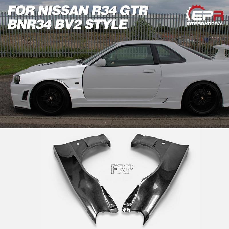 Carbon Fiber Kit Fit For 1999-2002 Nissan Skyline R34 GTT GTR Wind Deflector