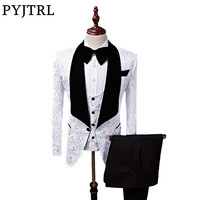 PYJTRL S 5XL Men Shawl Lapel Slim Fit Groom Tuxedos Latest Coat Pant Designs Wedding Suits