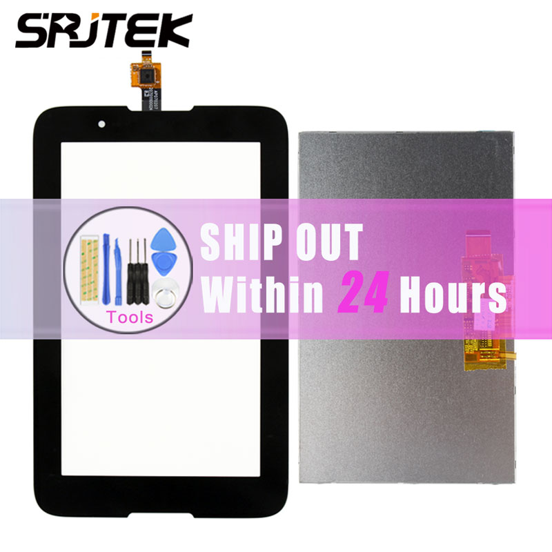 Srjtek 7inch For Lenovo A7-30 A3300 Touch Screen with LCD Display Screen Digitizer Sensor Tablet Pc With Track NO. a for carbaystar t805c touch screen display on the outside handwritten screen 10 1 inch tablet capacitance touch screen
