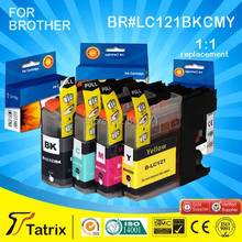 Cheap Products LC121 ink cartridge with chips For Brother Use printer DCP-J552DW/DCP-J752DW/MFC-J470DW/MFC-J650DW Inkjet Printer(China (Mainland))