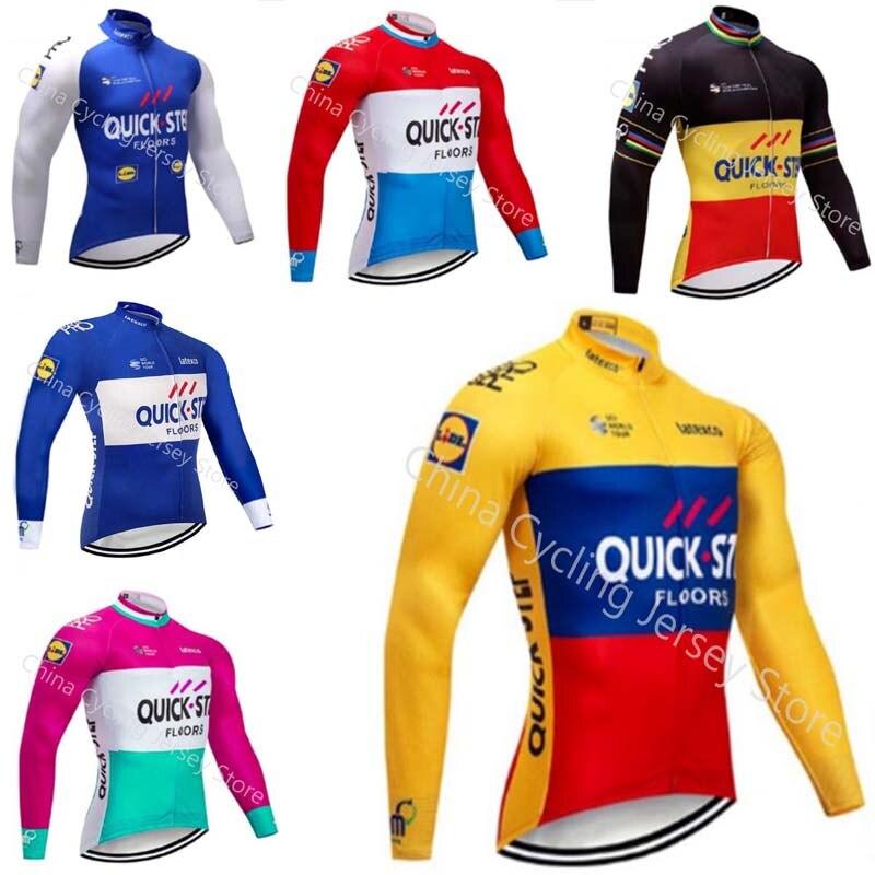 d1ccb689643a 2019 Pro equipo Quick step Ciclismo Jersey MTB bicicleta camisa primavera  otoño manga larga hombres bicicleta Ropa Maillot Ciclismo a8