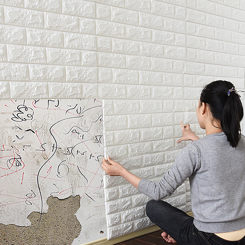 10 Stück Von Selbst Klebstoff Wasserdicht Tv Hintergrund 3d Tapete Wand Aufkleber Tapete Wandbild Schlafzimmer Dekorative Aufkleber