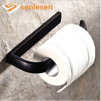 Wholesale And Retail Free Shipping Oil Rubbed Bronze Wall Mounted Solid Brass Paper Holder Toilet Tissue