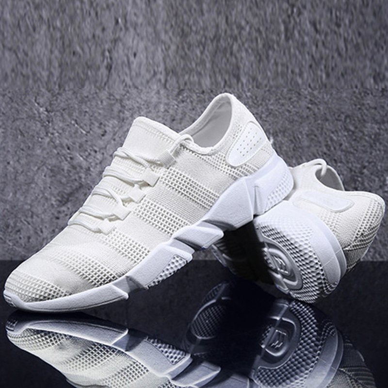 Casual blanc Taille Mocassins gris Sur Respirant Marche Mesh Noir Grande Confortable De 44 Automne Sneakers Slip D'été Hommes Chaussures 39 6Hzqw5