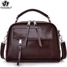 Luxury Brand Genuine Leather Female Handbag Vintage COW Leather Ladies Hand Bags Big Tote Bag Casual Shoulder Bags for Women Sac 2017 popular hand carve china vintage genuine leather womens bags