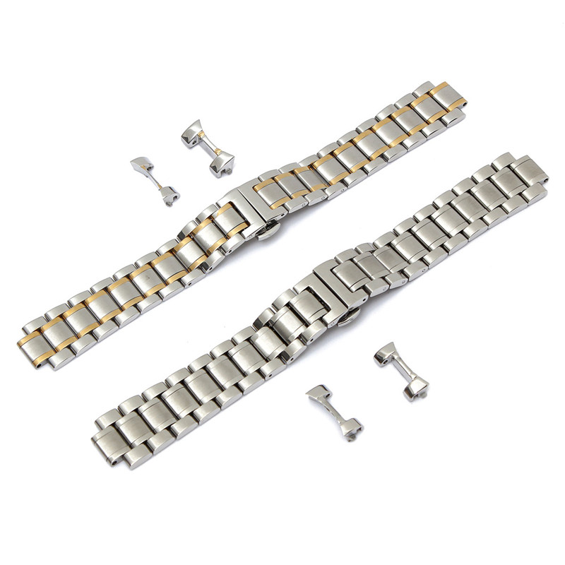 Hot Selling 19mm/20mm Stainless Steel Durable Watch Strap Sliver Watchbands Curved End For LONGINES Men Series Metal Watch Stra hot selling stainless steel watch women